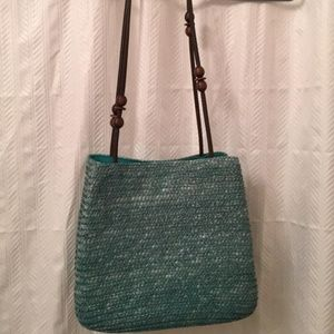 Handbags - NWOT-Cute Purse with Wooden straps